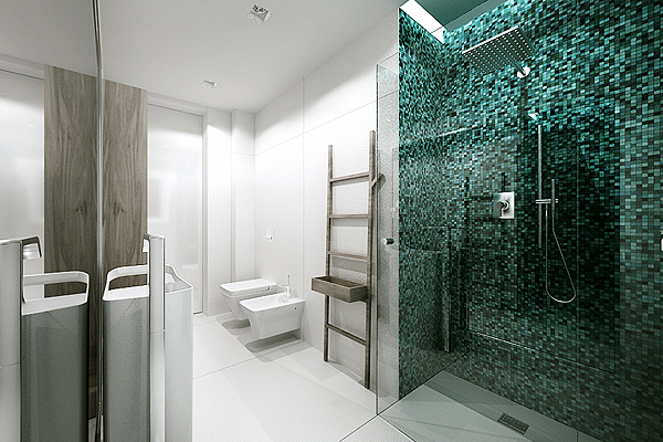 Mosaic bathroom tiles interior design ideas for Bathroom mosaic design