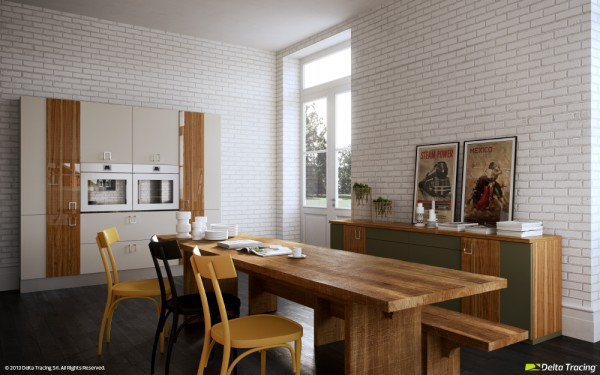 31 white brick wall kitchen