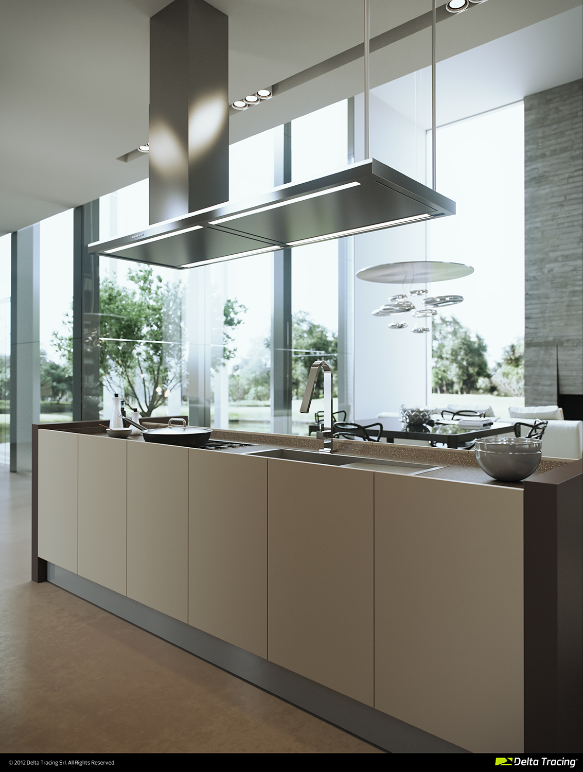 Masculine Kitchen - Kitchen layouts and lovely lighting