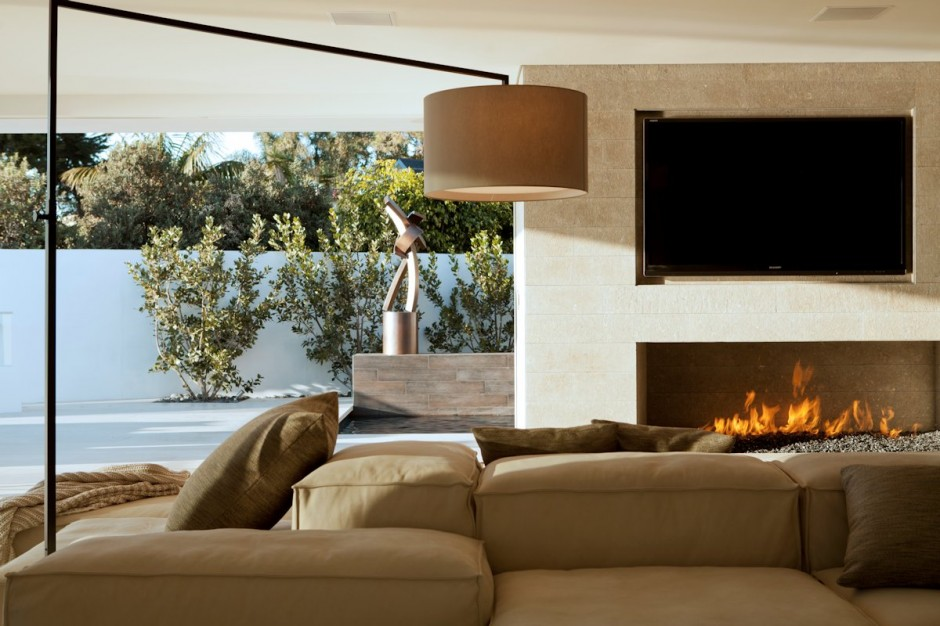 Modern Standing Lamp - Oceanfront house with pool california