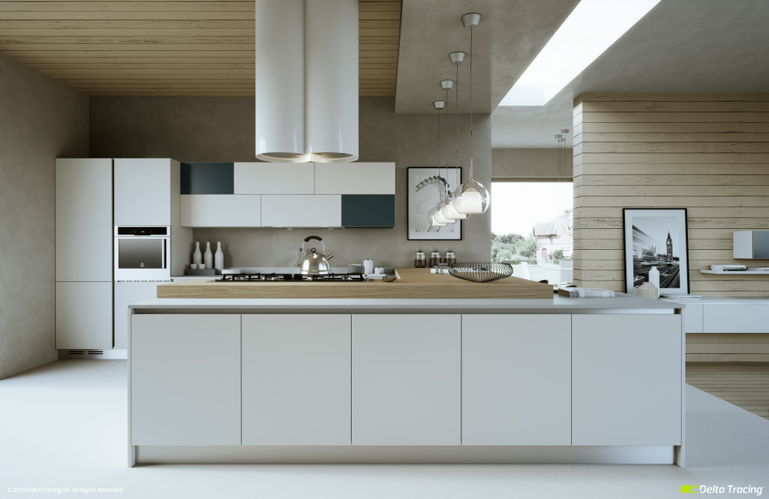 Soft Masculine Kitchens - Kitchen layouts and lovely lighting