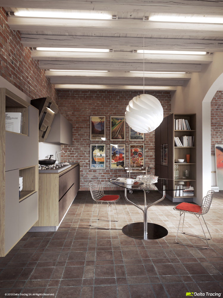 Industrial Kitchen - Kitchen layouts and lovely lighting