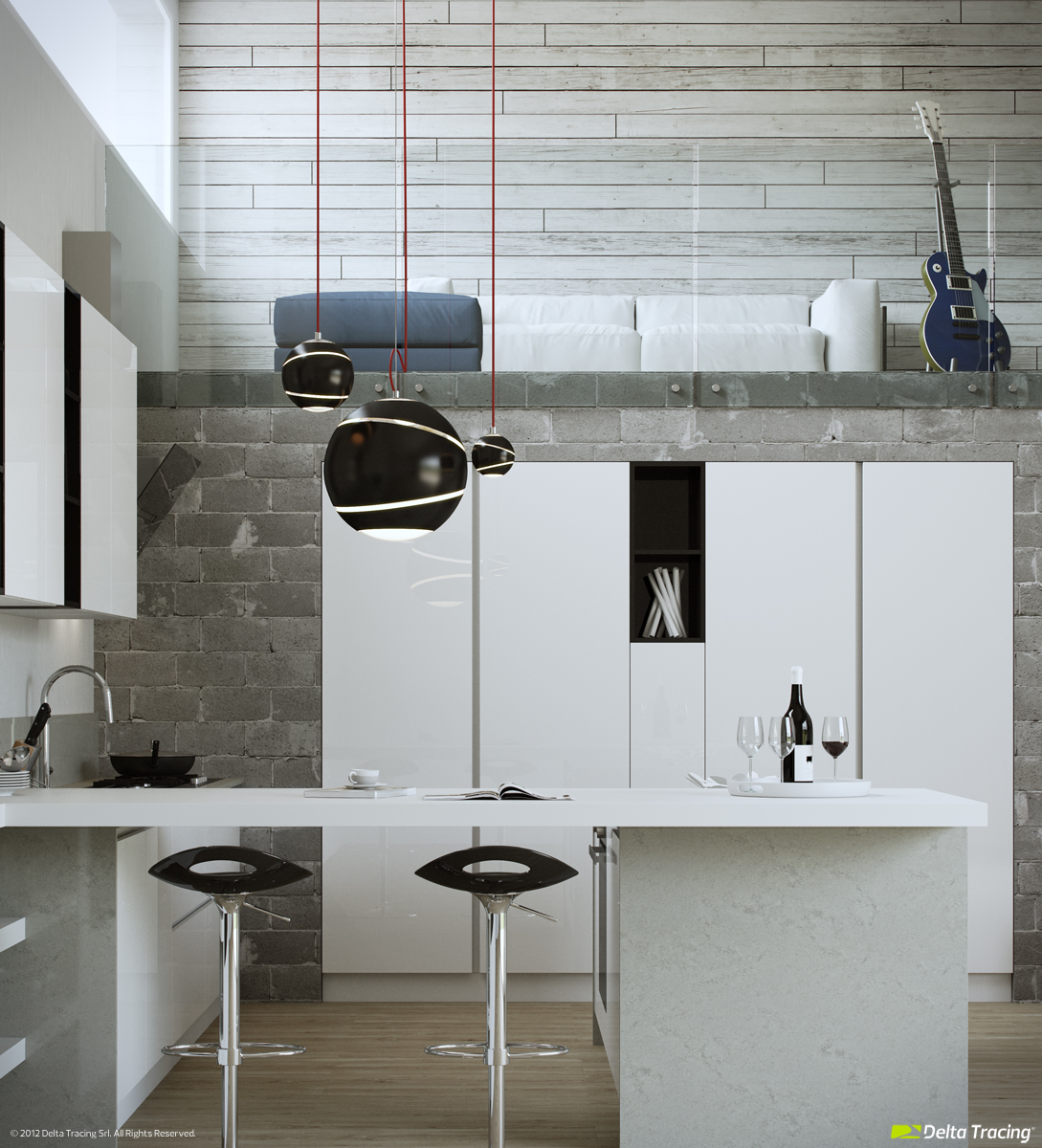 White Gray Kitchens - Kitchen layouts and lovely lighting