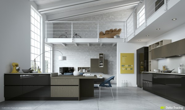 49 white loft kitchen