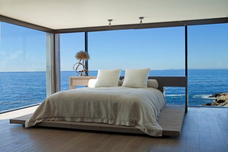 bedroom with sea view interior design ideas