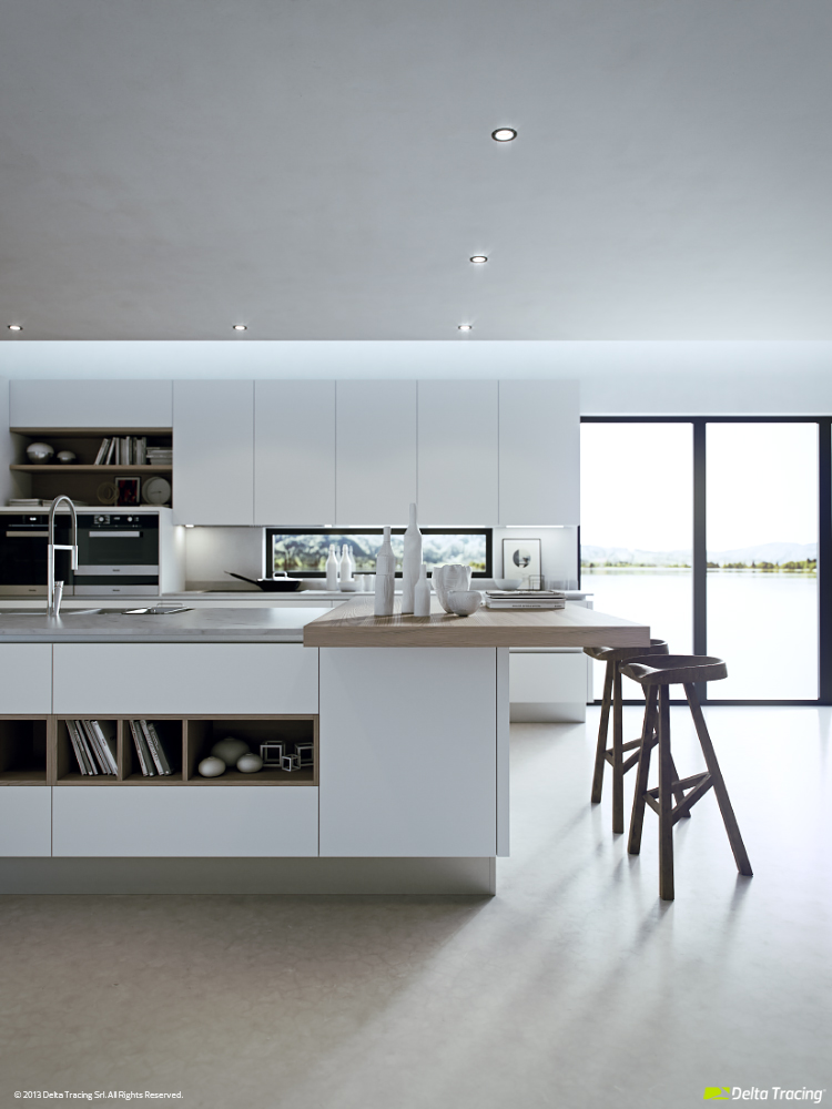 White Kitchen - Kitchen layouts and lovely lighting
