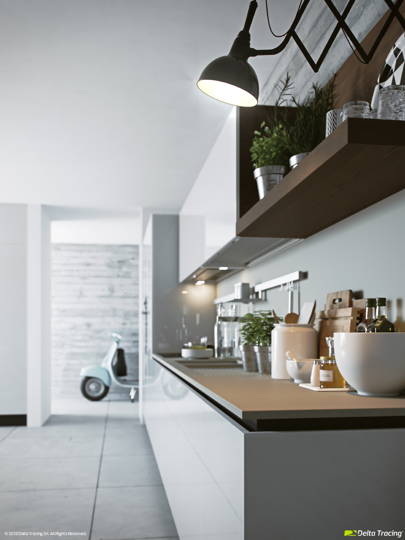 Kitchen Shelving - Kitchen layouts and lovely lighting