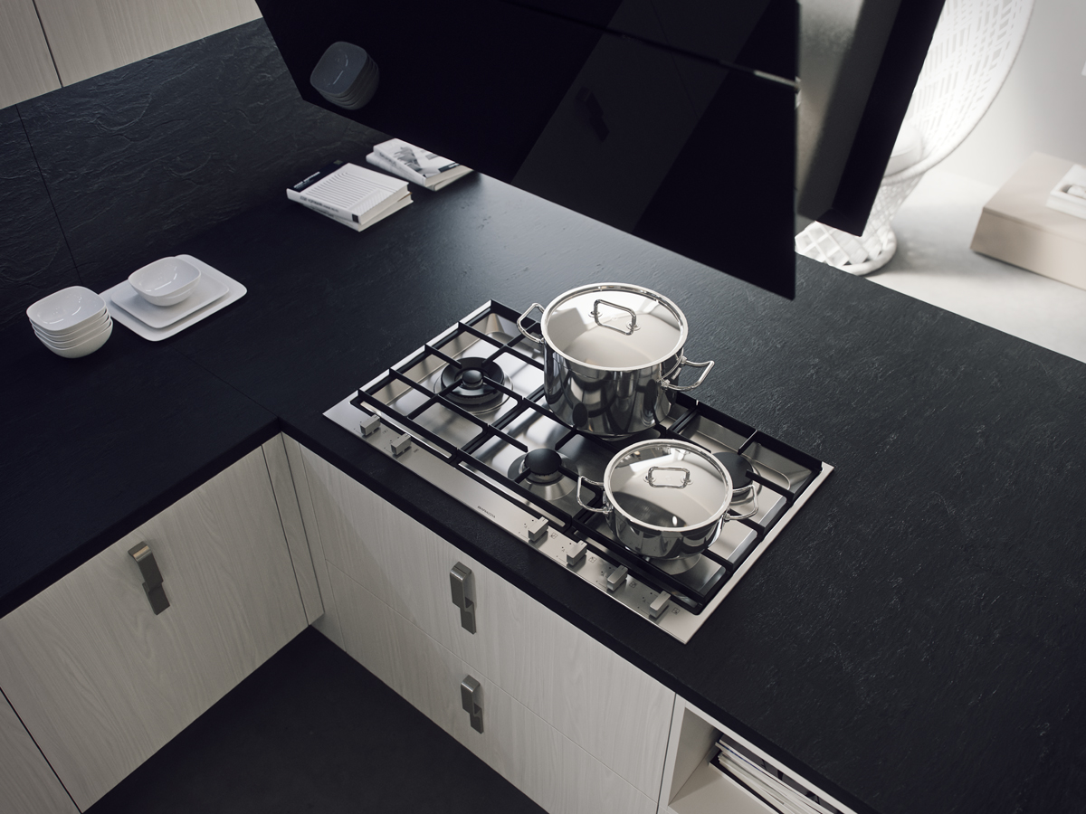 Black Kitchen Counter Top - Kitchen layouts and lovely lighting