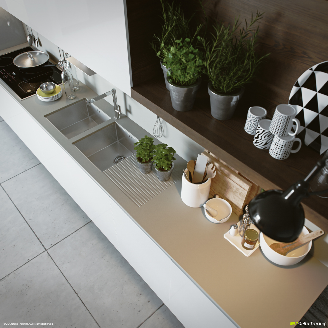 Beautiful Kitchen Shelves - Kitchen layouts and lovely lighting