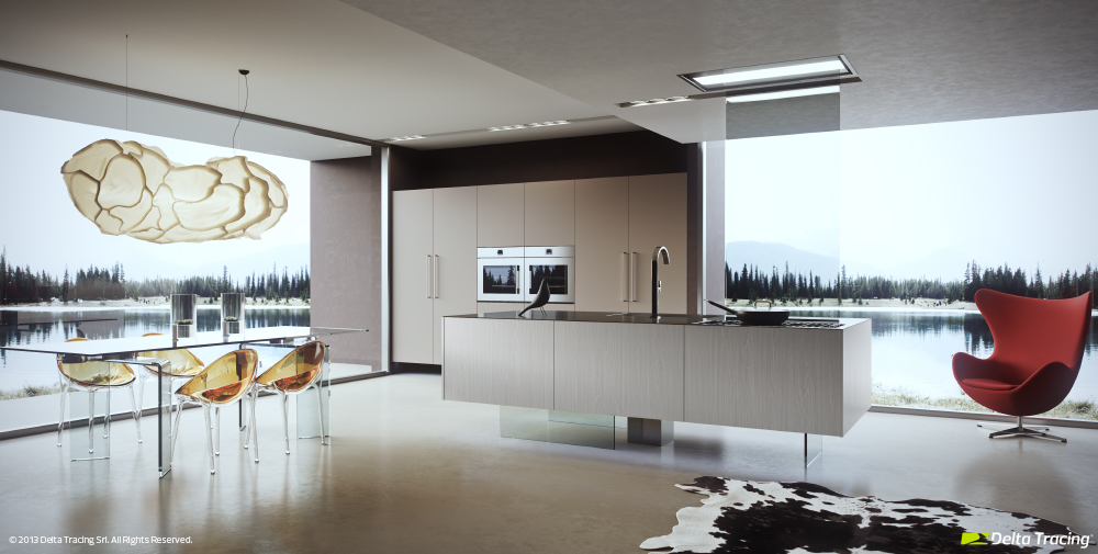 Scenic Kitchen - Kitchen layouts and lovely lighting