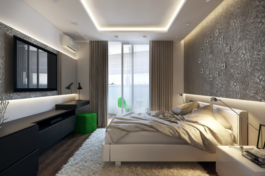 Bedroom Modern Designs 2014 White Green Black Glamorous Ideas 2