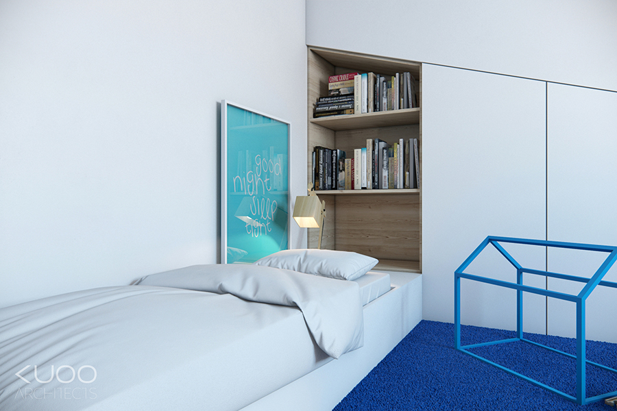 Blue White Bedroom - Bold decor schemes