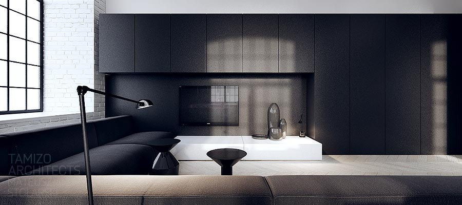 interior design in black - photo #4