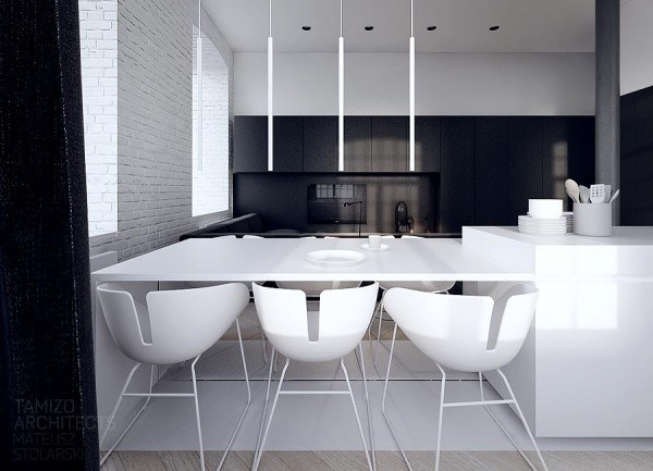 7 black white interior design