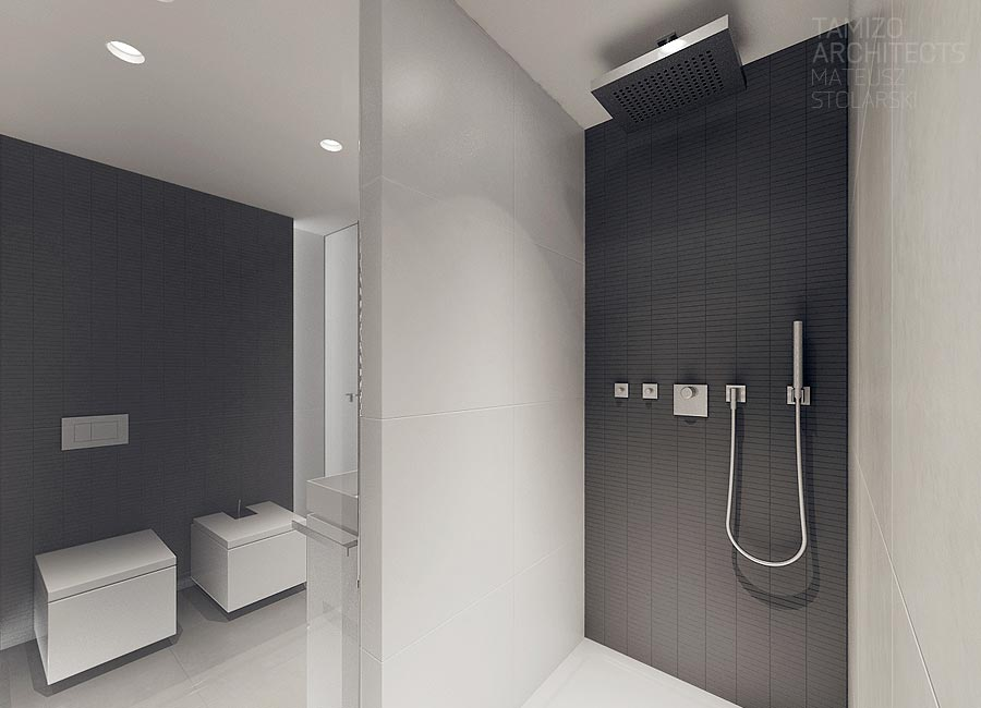 Contemporary shower room interior design ideas Interior design black bathroom