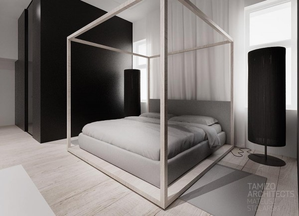 Modern four poster bed 600x433
