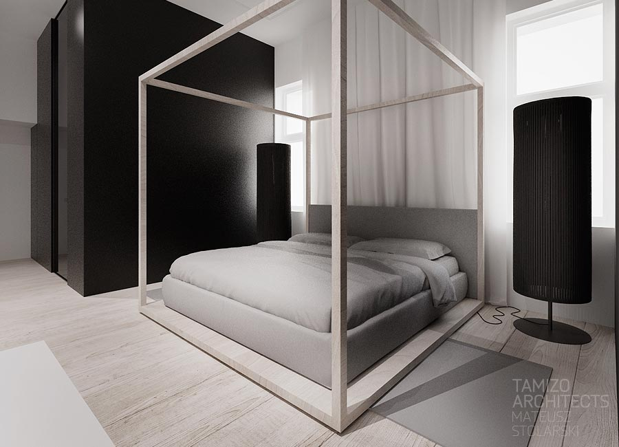 Modern four poster bed interior design ideas