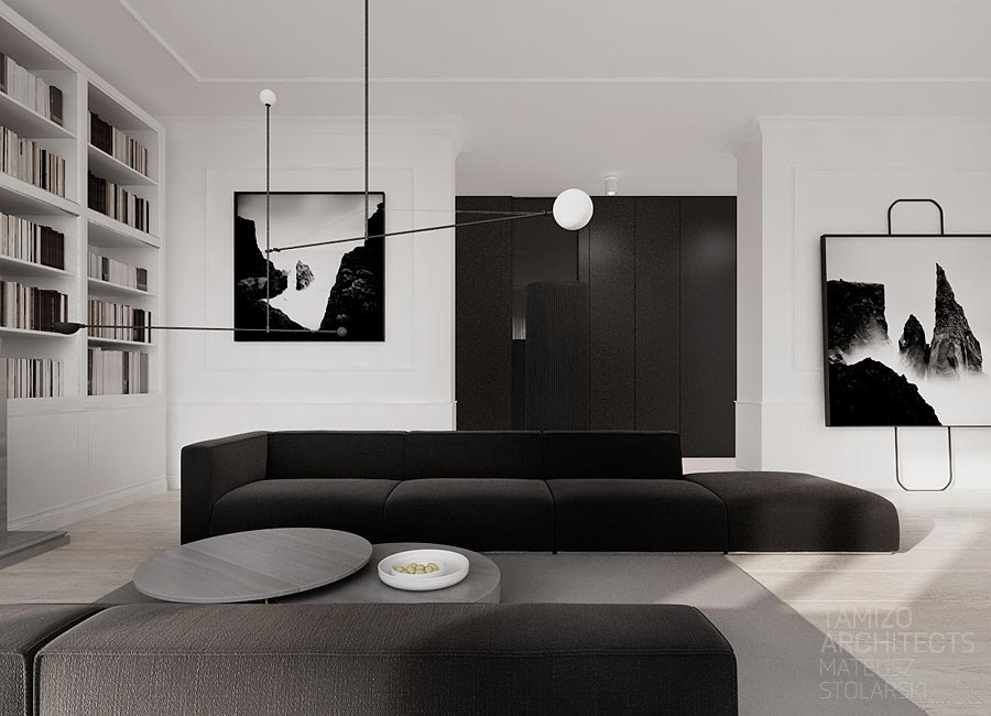 Monochrome home interior design ideas for Monochrome interior design ideas