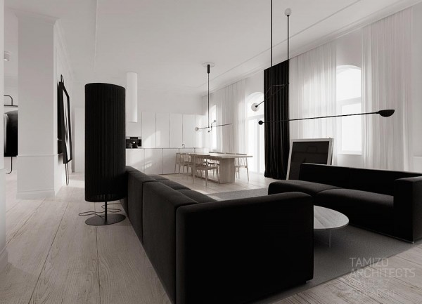 Monochrome room interior design ideas for Monochrome interior design ideas