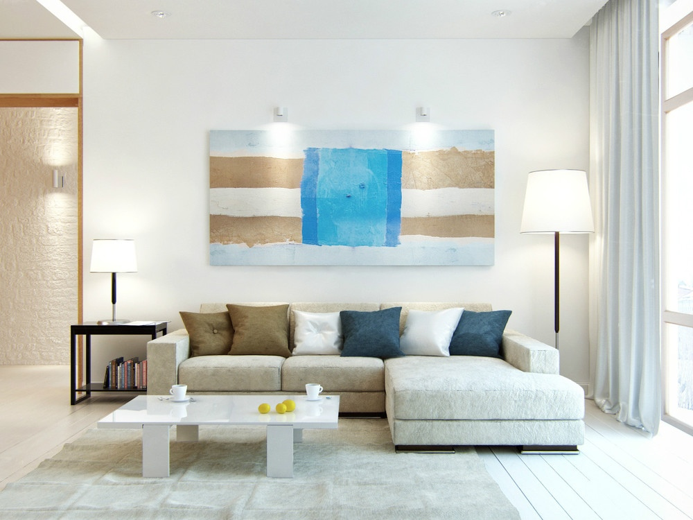 Beach color home accents for Ocean themed interior design