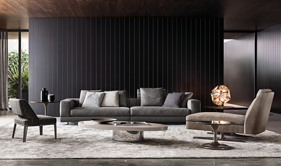Gray Sofa - Atmospheric room designs