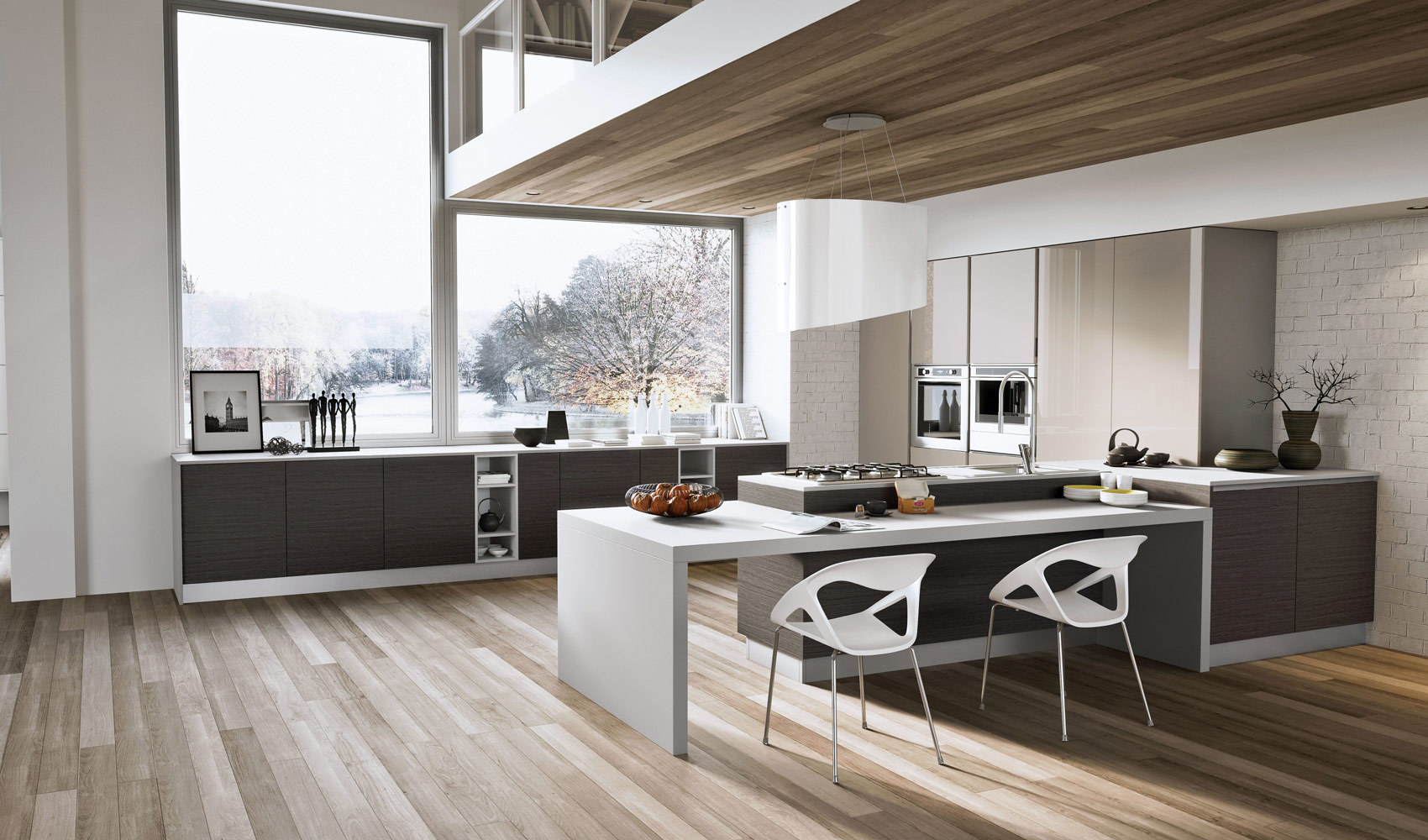 Kitchen designs that pop for Contemporary kitchen units