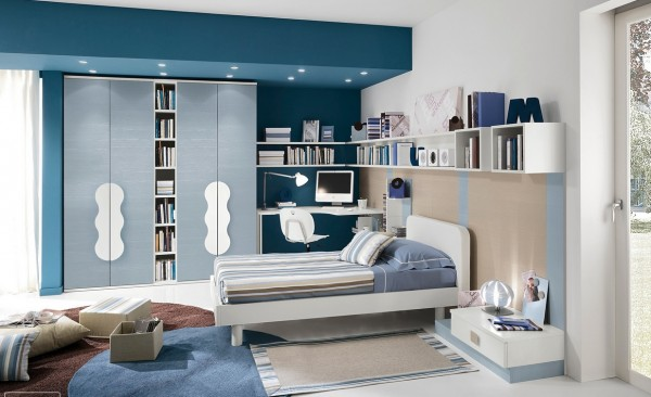 Blue teenagers room