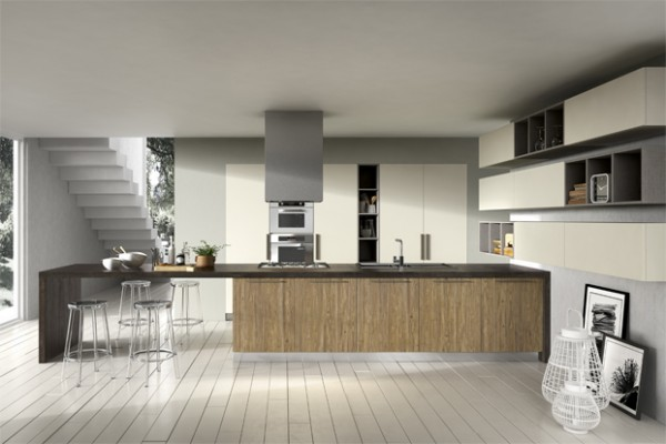 Wooden kitchen units