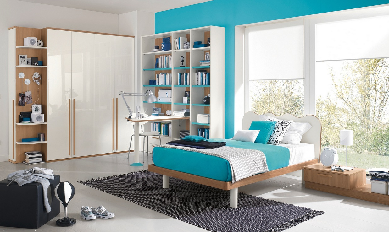Modern kid 39 s bedroom design ideas Modern bedroom blue