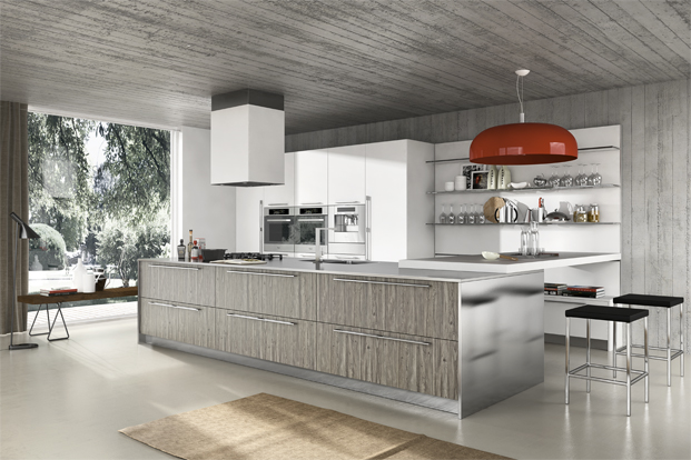 Gray Woodgrain Kitchen Inits - Kitchen designs with unusual choices