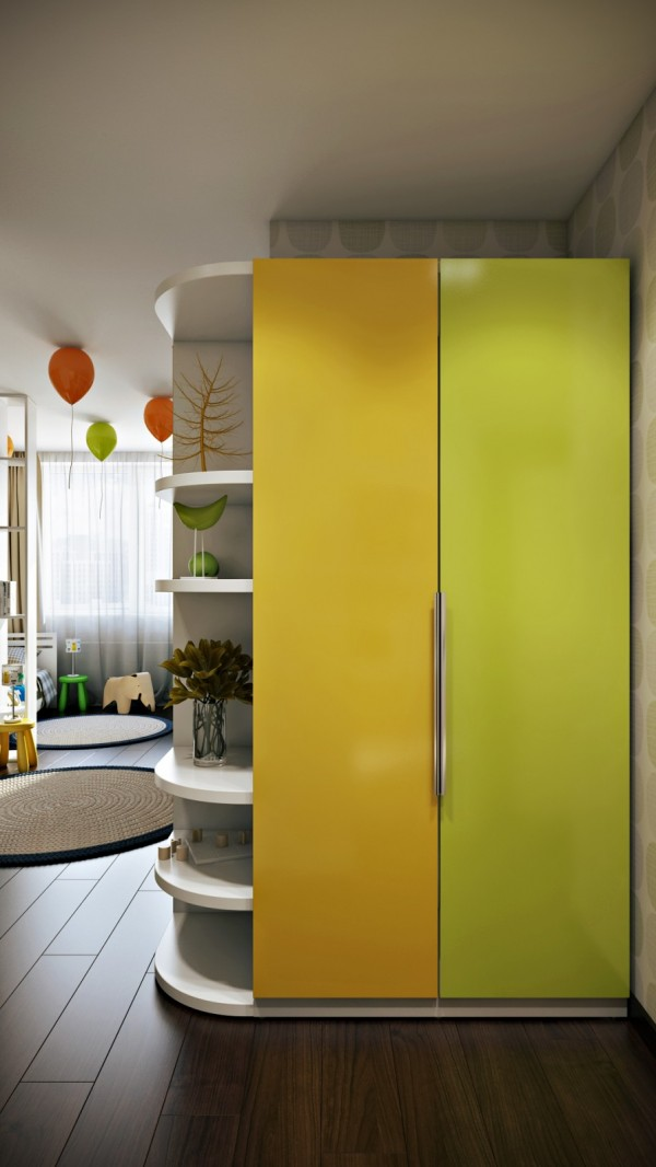 Green yellow kids room