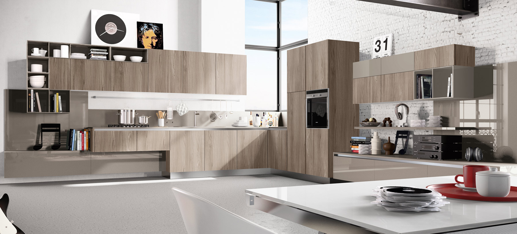 Kitchen designs that pop for Pics of modern kitchen designs