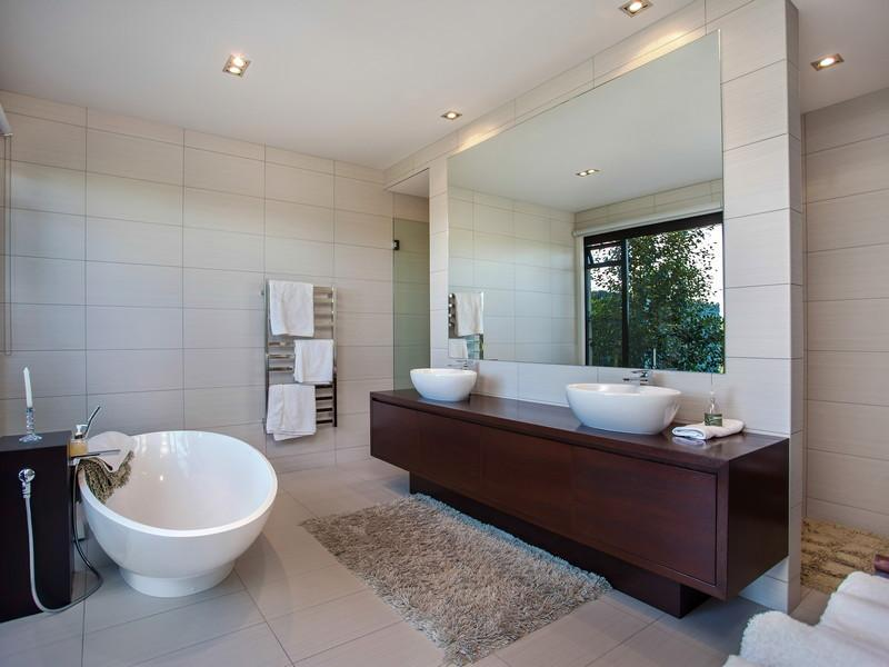 Modern Bathrom Design - Contemporary home in the hills