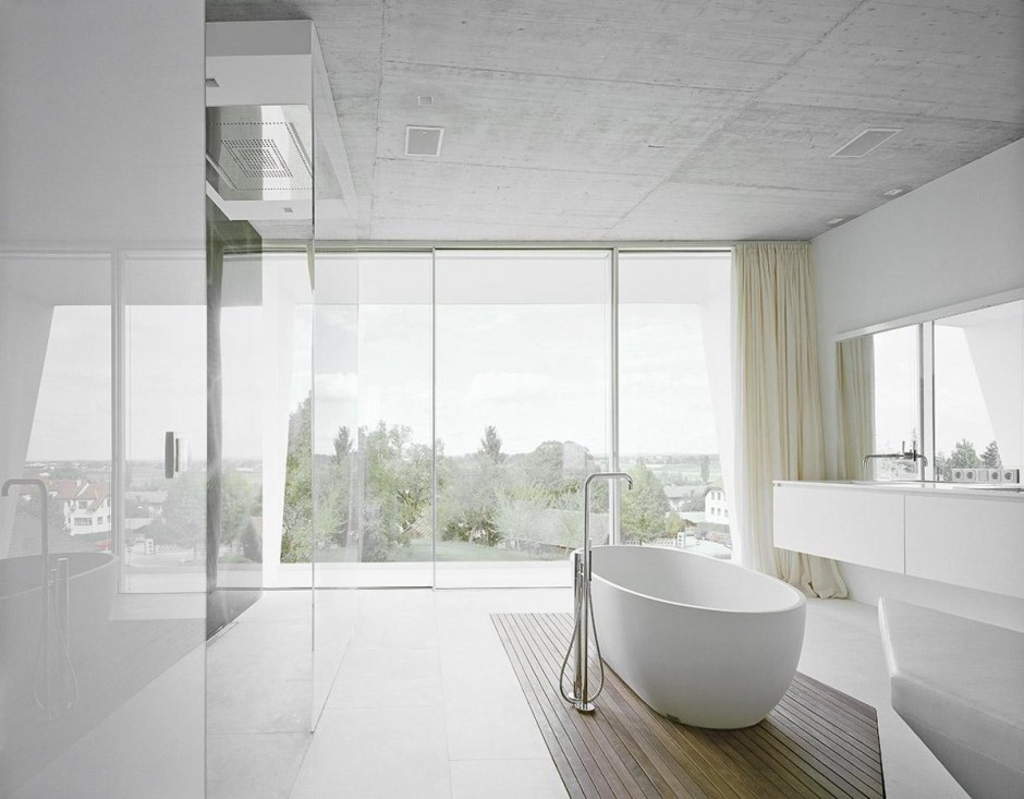 Futuristic villa in vienna Modern contemporary bathrooms