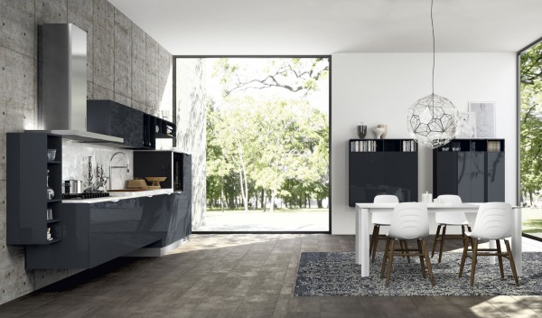 Charcoal kitchen design