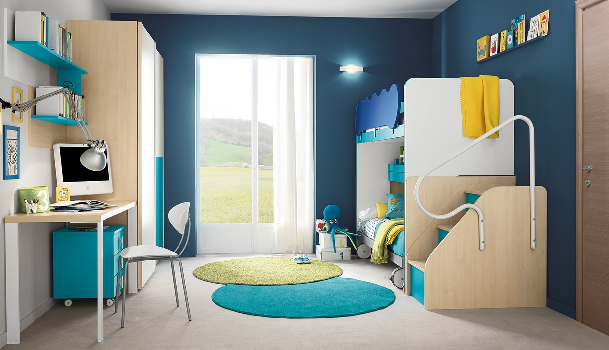 Modern kid 39 s bedroom design ideas for Latest children bedroom designs