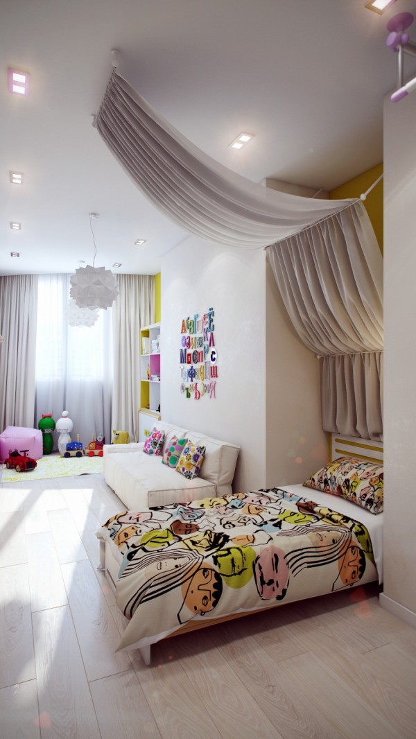 Colorful childrens bedroom design