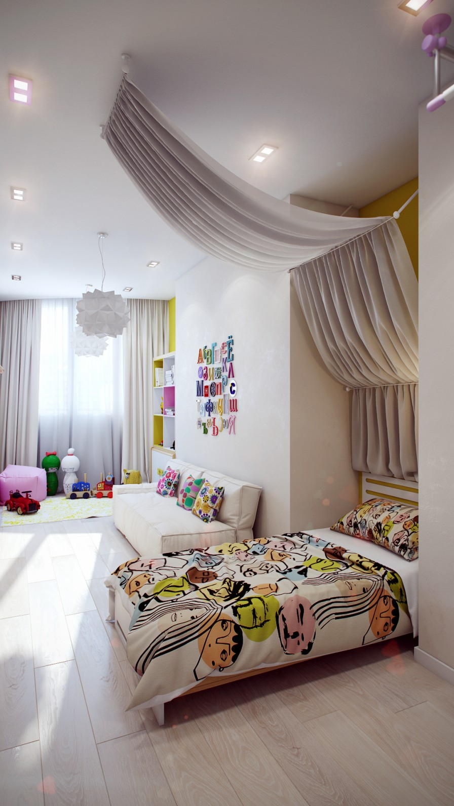 Crisp and Colorful Kids Room Designs