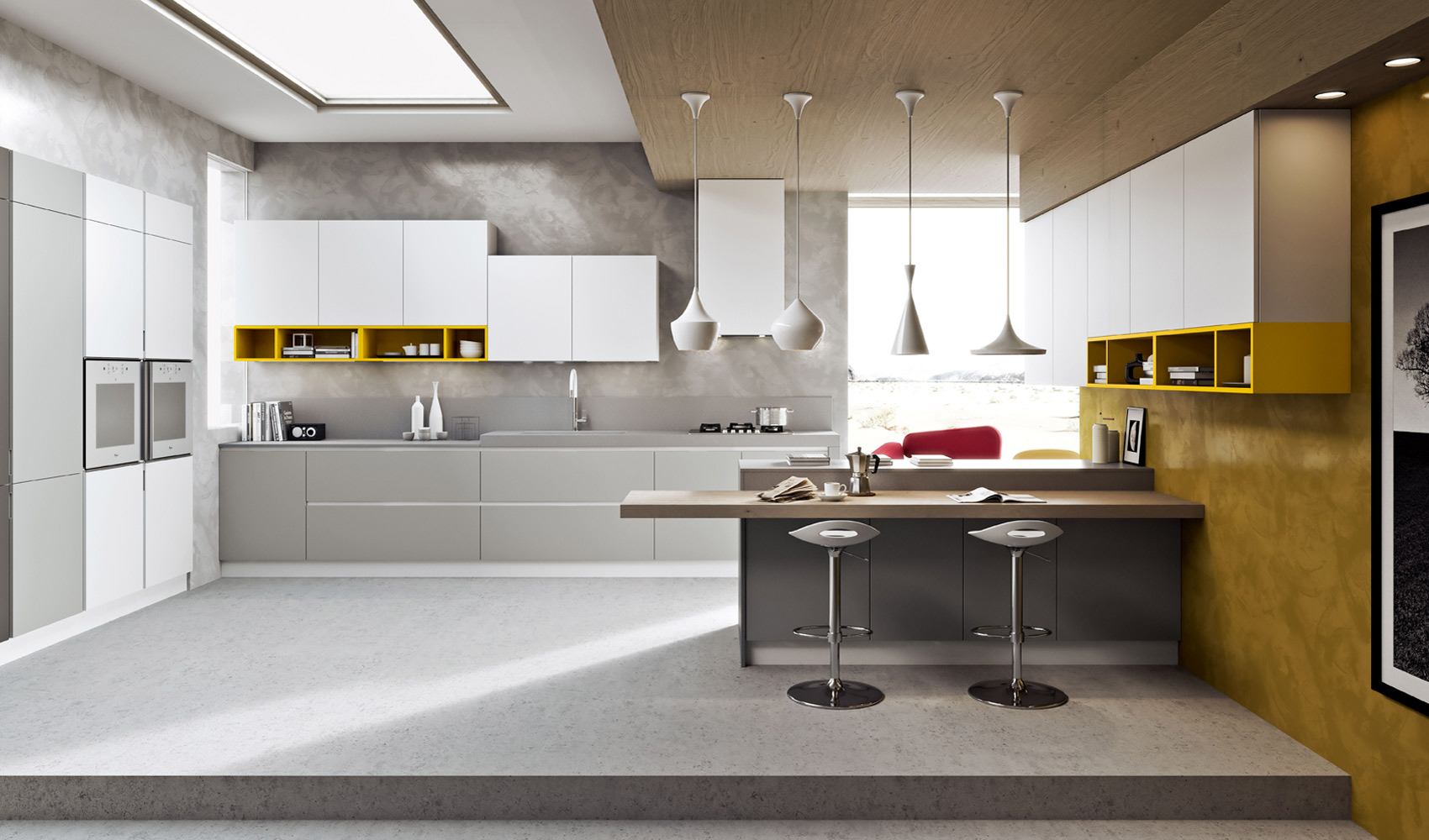 Kitchen designs that pop - Cucina moderna design ...