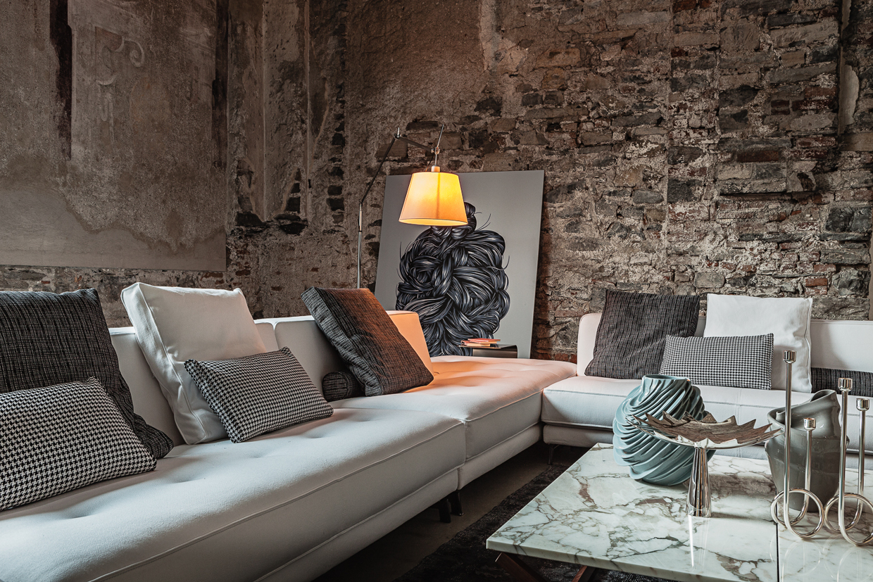 Contemporary White Sofa - Atmospheric room designs