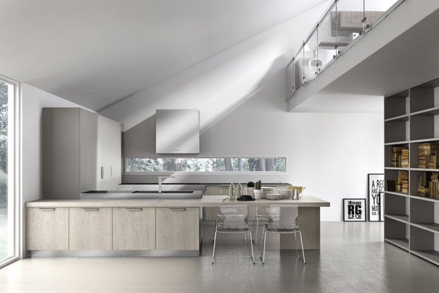 Pale Gray Kitchen - Kitchen designs with unusual choices