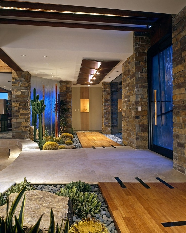 Indoor garden ideas Indoor courtyard house plans