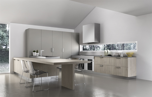 Pale Gray Larder Units - Kitchen designs with unusual choices