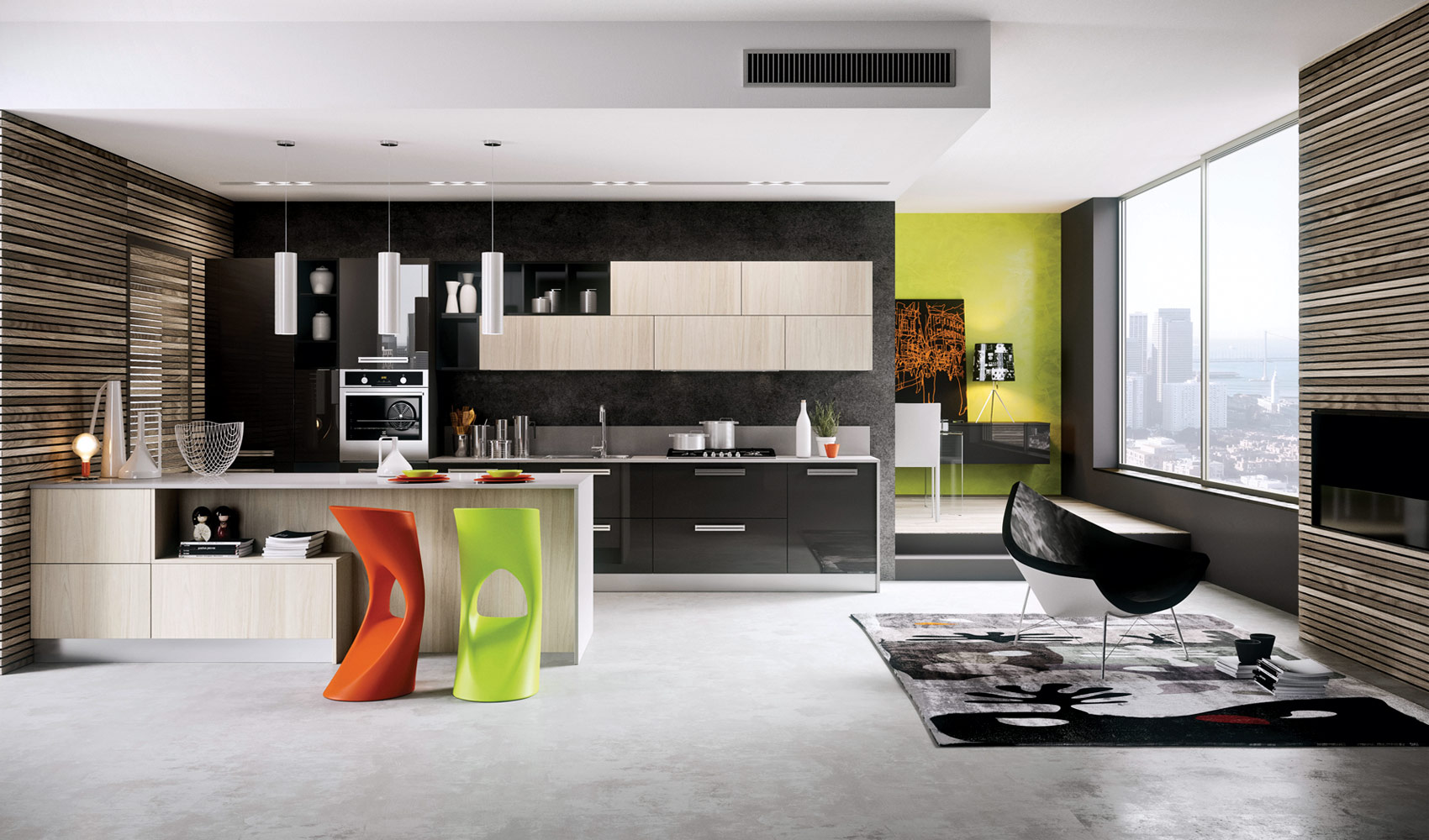 Kitchen designs that pop for Kichan dizain