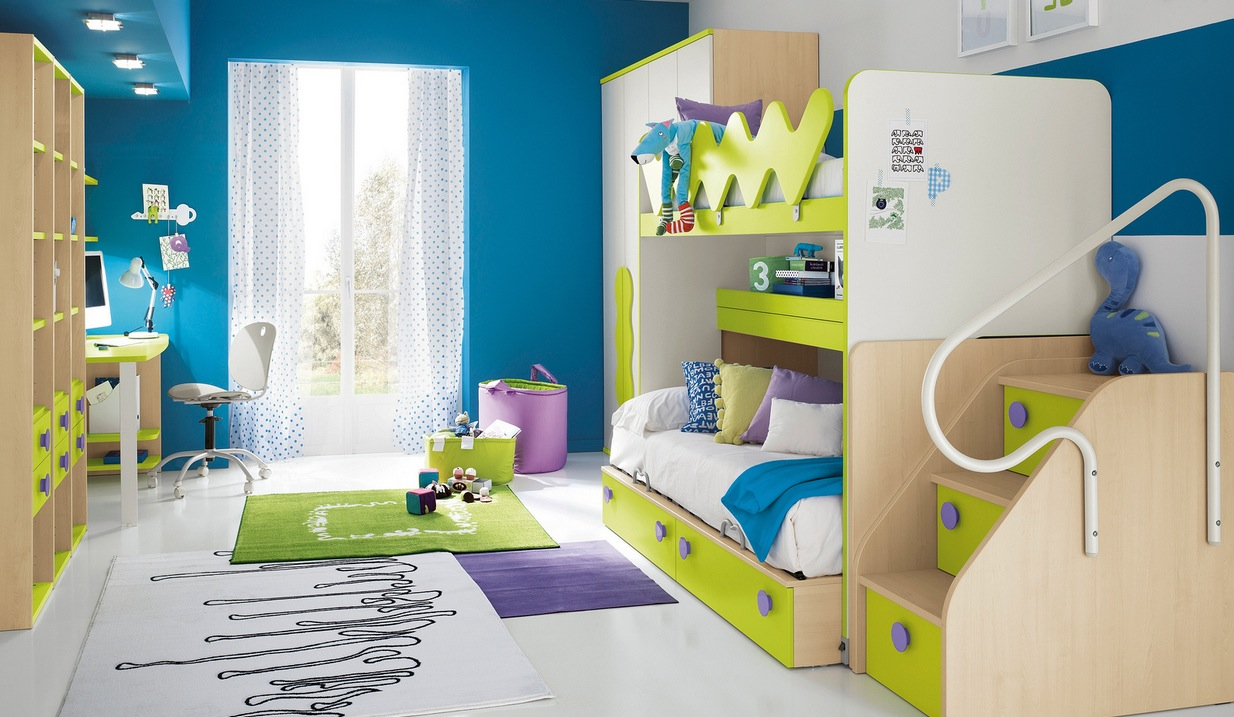Modern kid 39 s bedroom design ideas for Designer childrens bedroom ideas