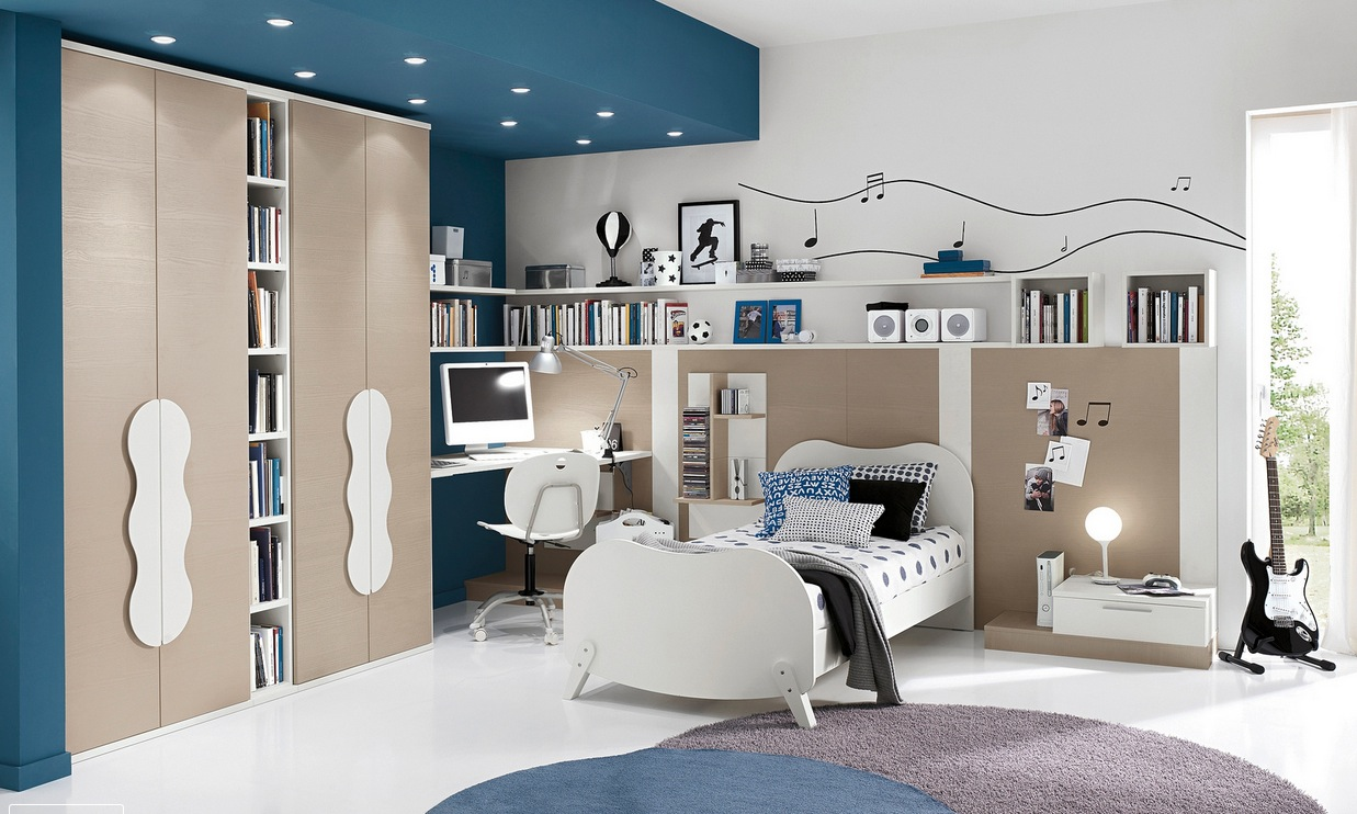 Modern kid 39 s bedroom design ideas for Designs for teenagers bedroom