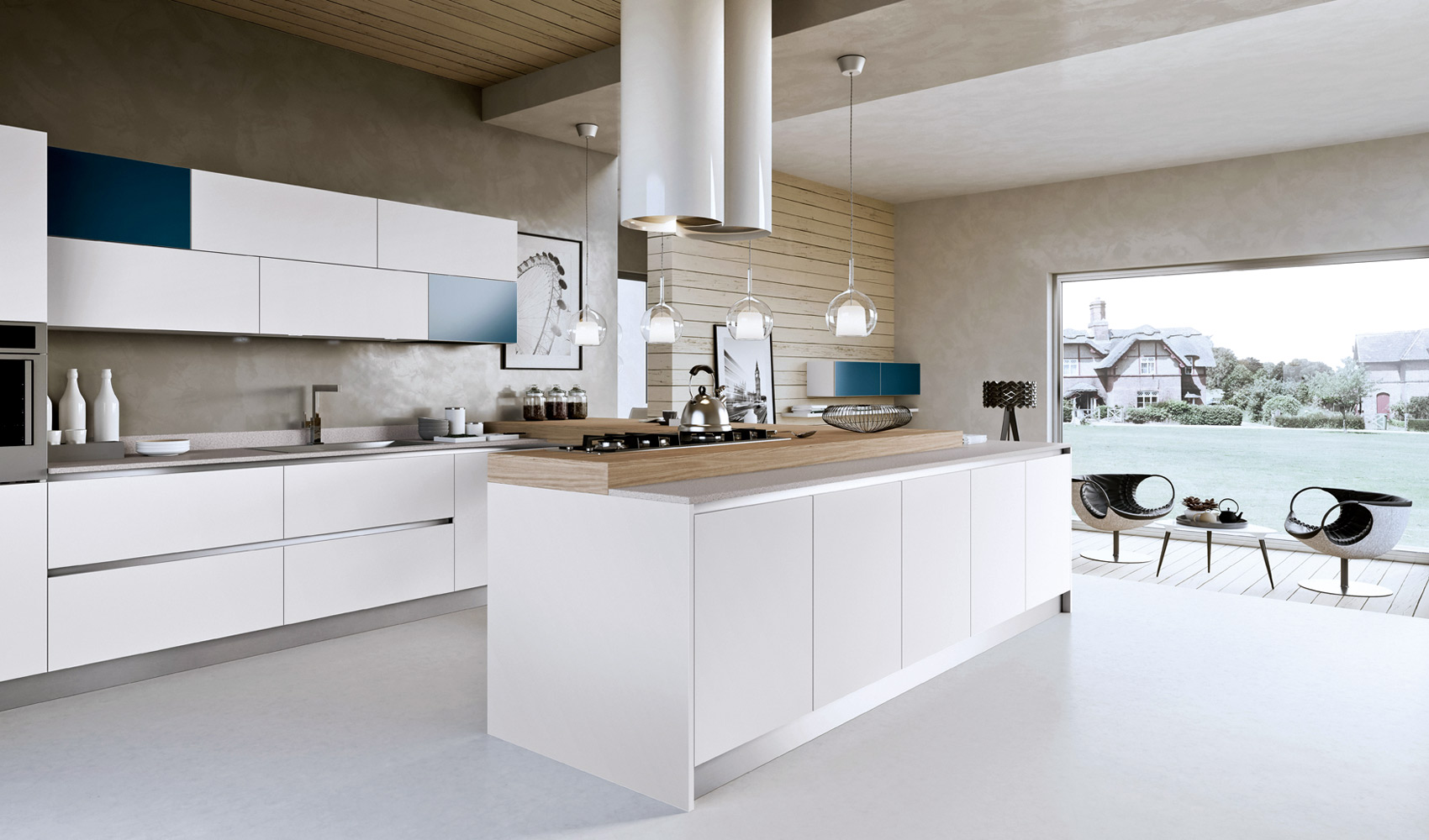 Modern White Kitchen Design kitchen designs that pop