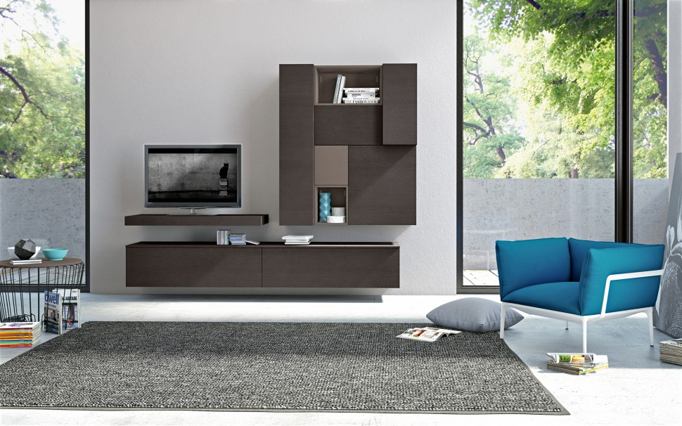 Modern living room wall units with storage inspiration for Lounge units designs