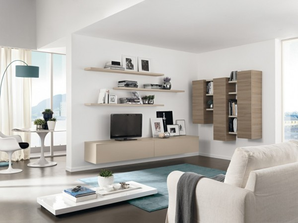 Living room furniture storage