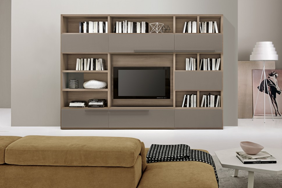Living room bookshelves 47 interior design ideas for Bookshelves ideas living rooms